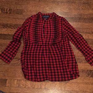 Ralph Lauren buffalo check blouse